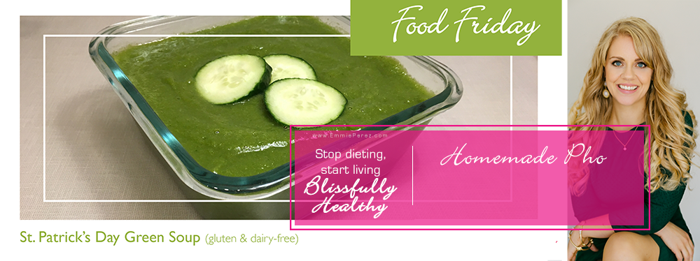 healthy green st patricks day soup recipe | Blissfully Healthy Wellness Coaching